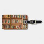 Books in the bookshelf luggage tag