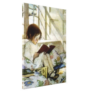 """Books in Winter"" by Jessie Willcox Smith Canvas Print"