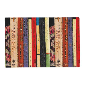 Books Laminated Placemat