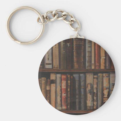 books large.gif basic round button keychain