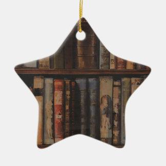 books large.gif ceramic ornament