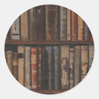 books large.gif classic round sticker
