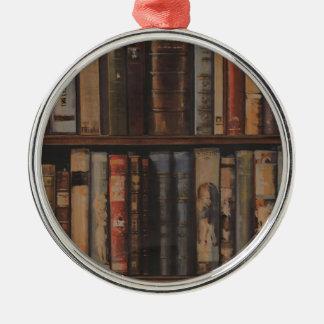 books large.gif metal ornament
