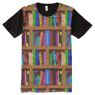 Books Library Bookshelf Pattern Readers All-Over-Print Shirt