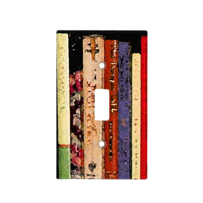 Books Light Switch Plates