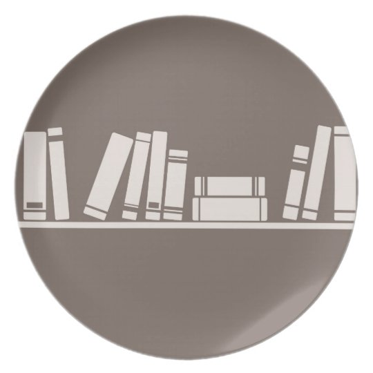 Books lovers! melamine plate