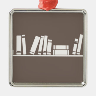 Books lovers christmas tree ornaments