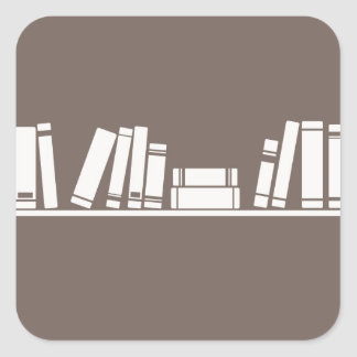Books lovers! square sticker
