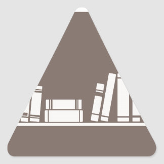 Books lovers! triangle sticker