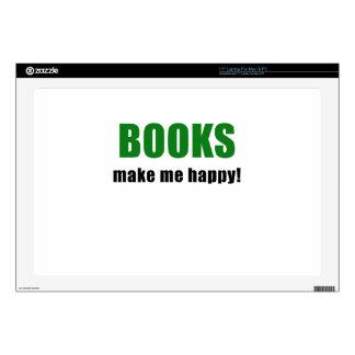 "Books Make me Happy 17"" Laptop Decal"