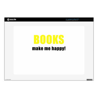Books Make me Happy Decal For Laptop