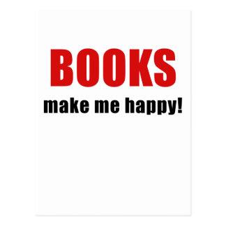 Books Make Me Happy Postcard