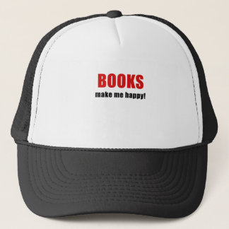 Books Make Me Happy Trucker Hat