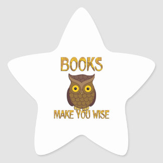 Books Make You Wise Star Sticker