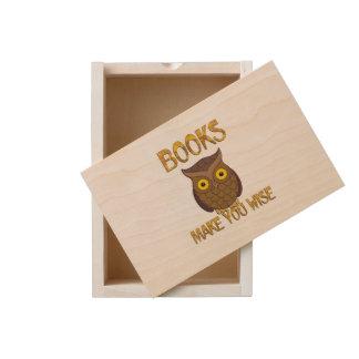 Books Make You Wise Wooden Keepsake Box