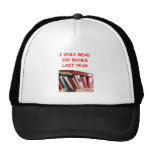 books mesh hats