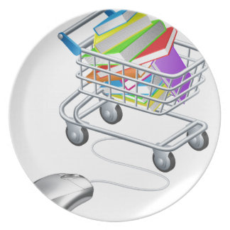 Books mouse internet trolley plate