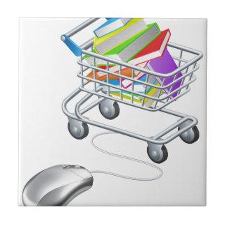 Books mouse internet trolley ceramic tile