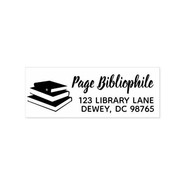 Books Name Return Address Stamp Teacher Librarian