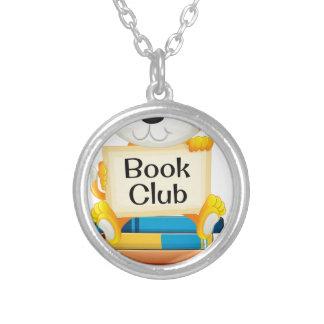 Books Round Pendant Necklace