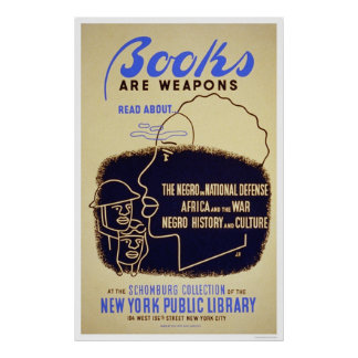 Books Negro Africa WWII 1943 WPA Posters