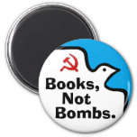 """""""Books, Not Bombs."""" Magnet"""