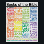 "Books of the Bible 16x20 Poster - Catholic Version<br><div class=""desc"">A list of the Catholic Books of the Bible,  color coordinated to show the type of book.</div>"