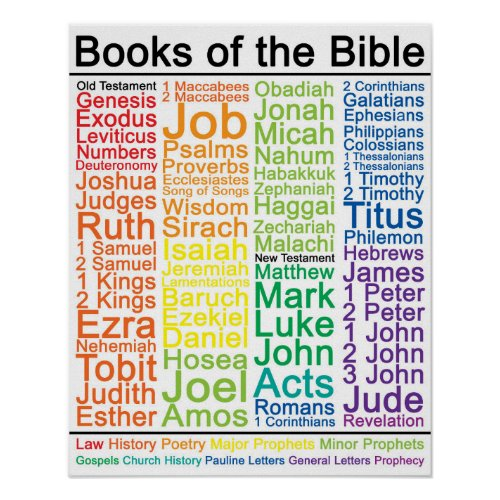 Books of the Bible 16x20 Poster _ Catholic Version