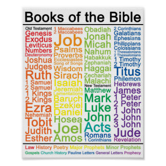 Books of the Bible 8x10 Poster - Catholic Version
