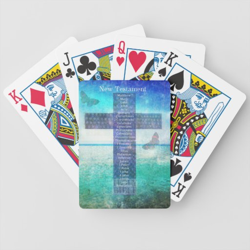 Books of the Bible from the New Testament Bicycle Playing Cards