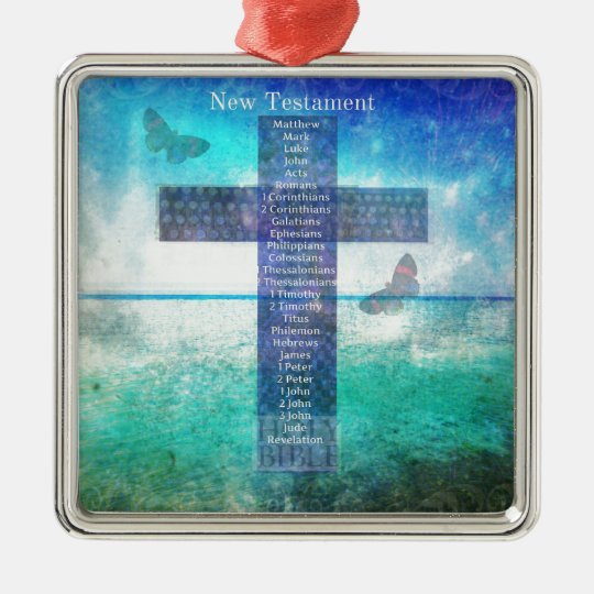 Books of the Bible from the New Testament Metal Ornament