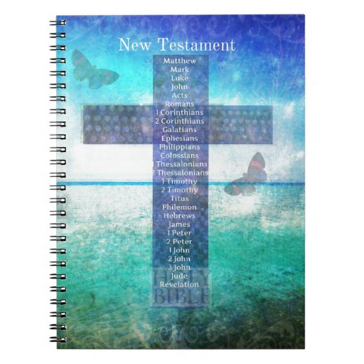 Books of the Bible from the New Testament Spiral Notebook