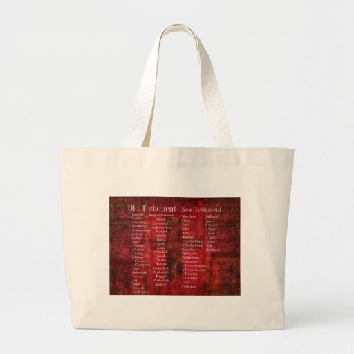 Books of the Bible in order list Canvas Bags