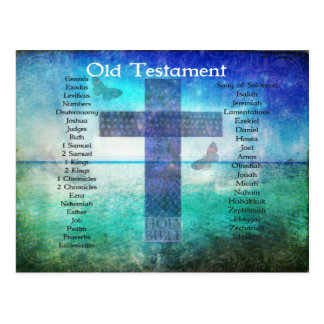 Books of the Bible Listed OLD Testament Postcard