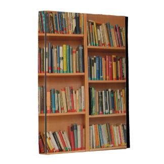 Books on Bookshelf Background iPad Folio Cases