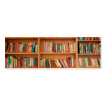 Books on Bookshelf Background Double-Sided Mini Business Cards (Pack Of 20)