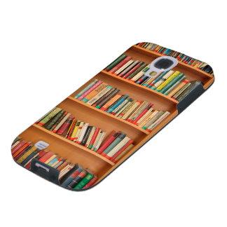 Books on Bookshelf Background Galaxy S4 Case