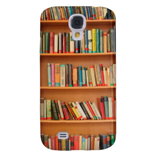 Books on Bookshelf Background Samsung Galaxy S4 Case