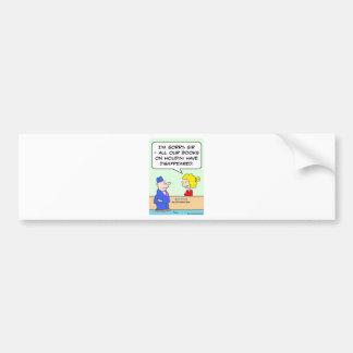 books on houdini library librarian bumper sticker