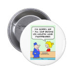 books on houdini library librarian 2 inch round button