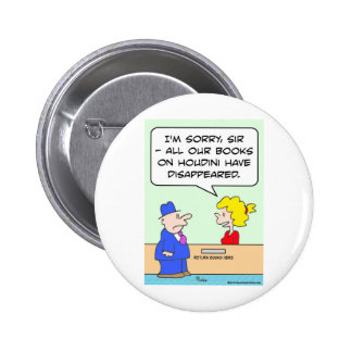 books on houdini library librarian pinback button