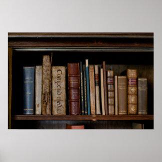 Books on Open Shelf Poster