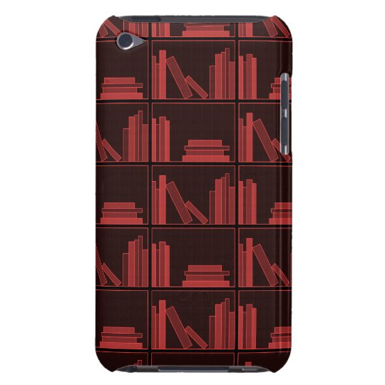 Books on Shelf. Dark Red. Barely There iPod Case