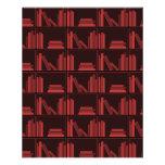 Books on Shelf. Dark Red. Full Color Flyer