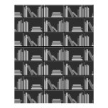 Books on Shelf. Gray, Black and White. Personalized Flyer