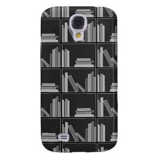 Books on Shelf. Gray, Black and White. Samsung S4 Case