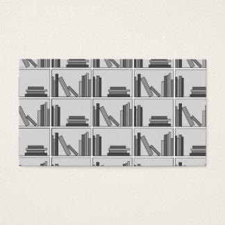 Books on Shelf. Monochrome. Business Card