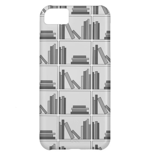 Books on Shelf. Monochrome. Cover For iPhone 5C