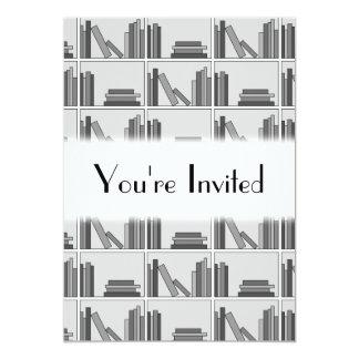 Books on Shelf. Monochrome. Custom Announcement