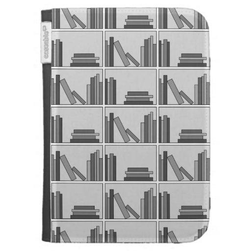 Books on Shelf. Monochrome. Kindle Keyboard Cases